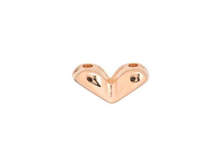 Cymbal Mitakas Rose Gold-Plated Side Bead For GemDuo, Bag of 20