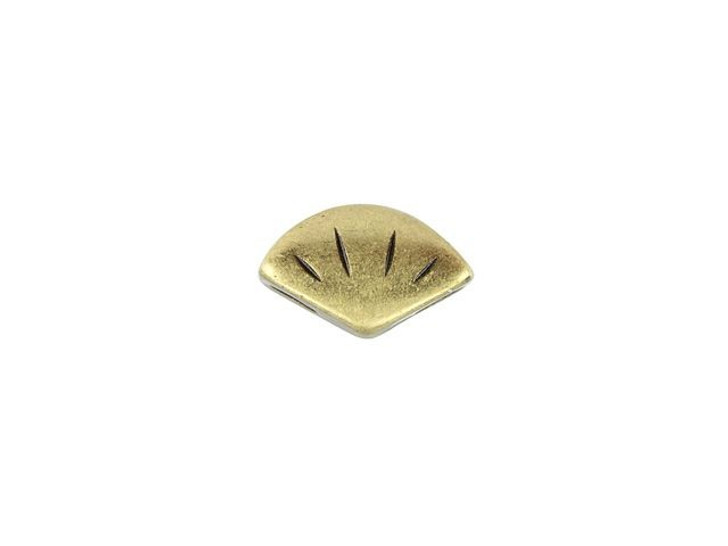 Cymbal Polonia Antique Brass-Plated Side Bead For GemDuo, Bag of 12