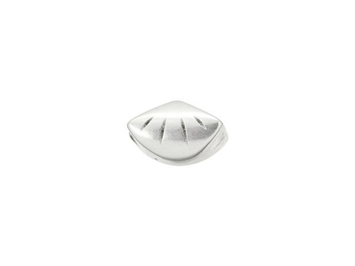 Cymbal Polonia Antique Silver-Plated Side Bead for GemDuo, Bag of 12