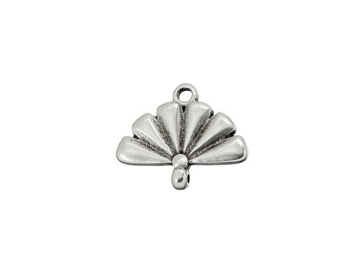 Cymbal Sitia Antique Silver-Plated Bead Ending for 8/0 Miyuki Round, Bag of 10