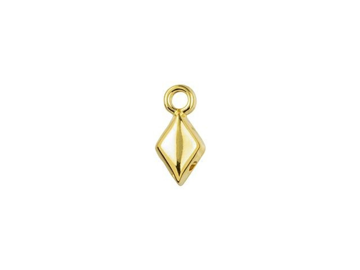 Cymbal Sykia 24K Gold-Plated Bead Ending for GemDuo, Bag of 20