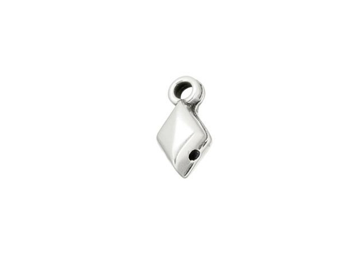 Cymbal Sykia Antique Silver-Plated Bead Ending for GemDuo, Bag of 20