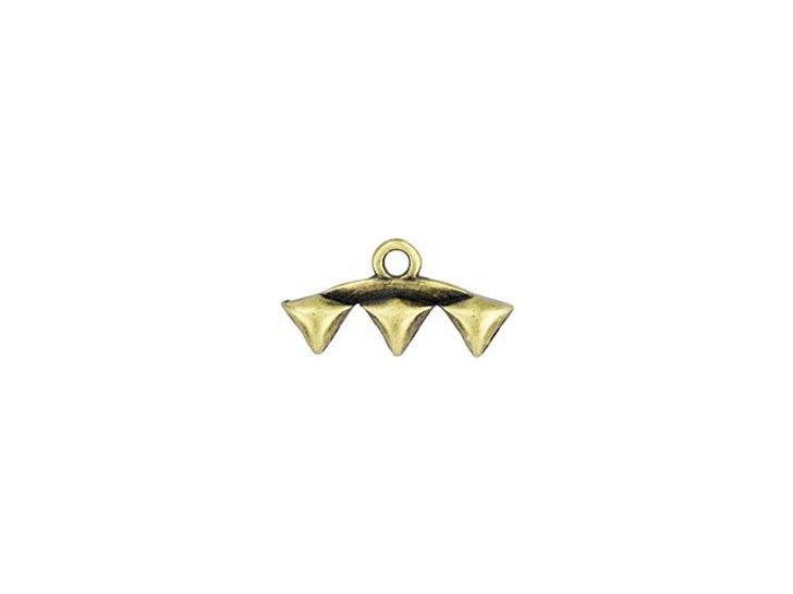 Cymbal Vani III Antique Brass-Plated Bead Ending For GemDuo, Bag of 10