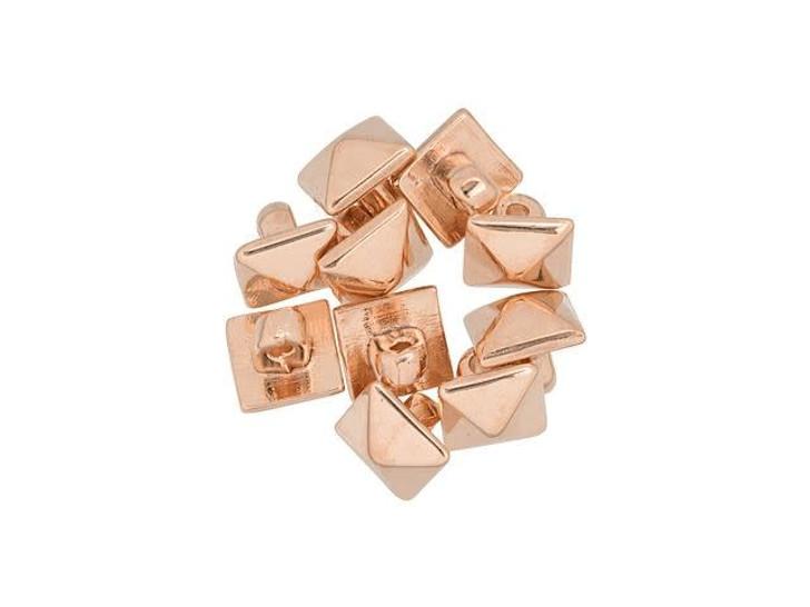 Cymbal Vigla Rose Gold-Plated Bead Subtitute For 8/0 Miyuki Round, Bag of 10