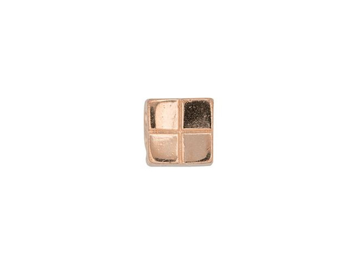 Cymbal Voutakos Rose Gold-Plated Bead Subtitute For Tila, Bag of 20