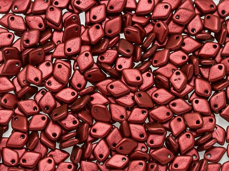 Czech Glass 1.5x5mm Lava Red Dragon Scale Bead (10 gram pack)