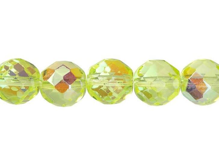 Czech Glass 12mm Jonquil AB Fire-Polished Bead Strand by Starman