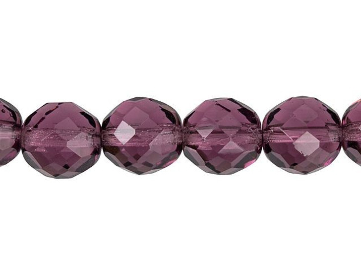 1 Strand 4mm Med Violet Pearl Glass Beads