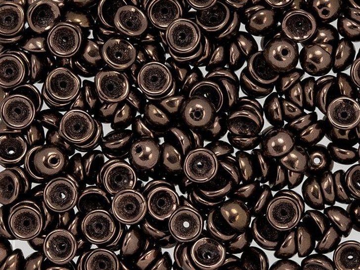 Czech Glass 2 x 4mm Dark Bronze Teacup Bead 2.5-Inch Tube by Starman