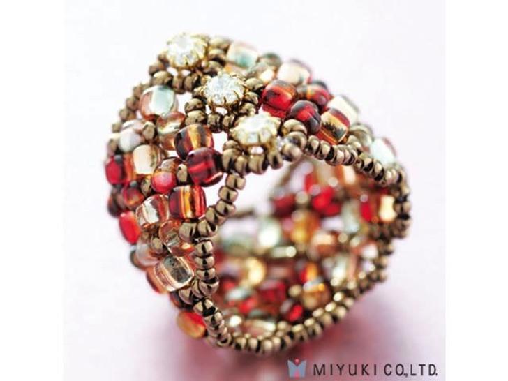 Miyuki Manchette Red Ring Kit