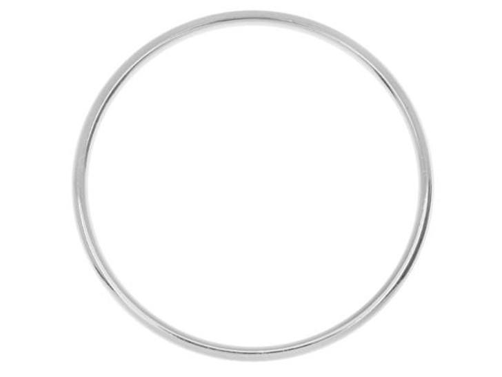 Nunn Design Silver-Plated Brass Open Frame Hoop Grande