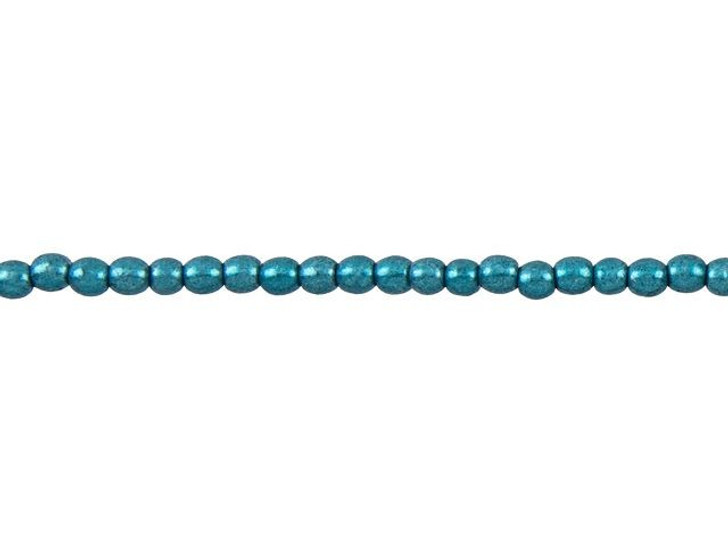 Czech Glass 3mm ColorTrends Saturated Metallic Island Paradise Round Bead Strand by Starman