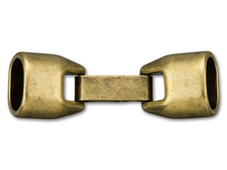 Regaliz 10x7mm Antique Brass-Plated Clasp Set