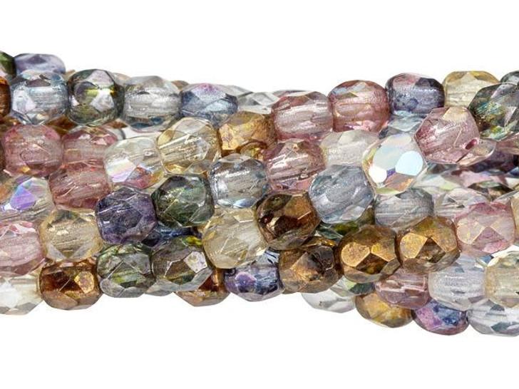 Czech Glass 3mm Luster Mix Fire-Polish Bead Strand by Starman