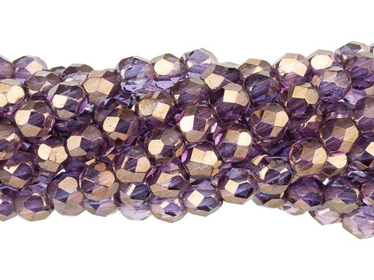 Czech Glass 4mm Bronze Illusion Fire-Polished Bead Strand by Starman