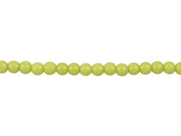 Czech Glass 4mm ColorTrends Pacifica Honeydew Round Bead Strand by Starman