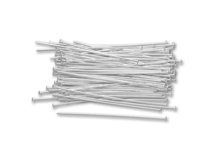 Sterling Silver 1.5-Inch Head Pin, 24 gauge Bulk Pack (100 Pcs)