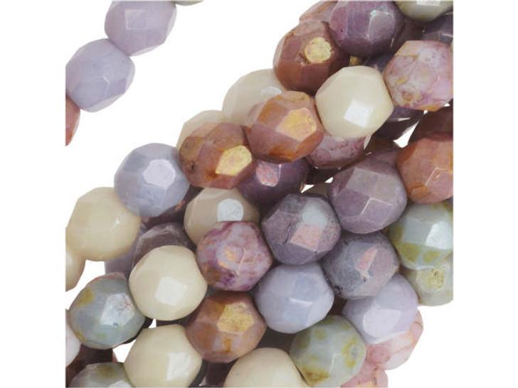 luster white Czech Glass Beads Drops 4x6mm50pcs