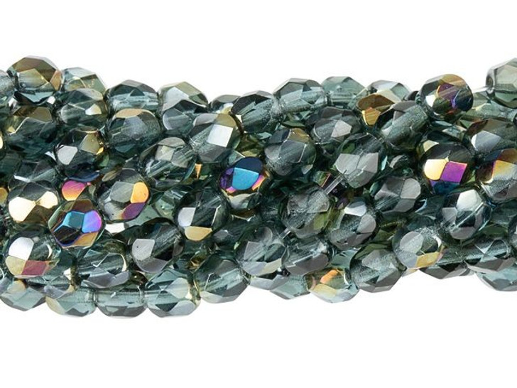Czech Glass 4mm Twilight Montana Blue Fire-Polish Bead Strand by Starman