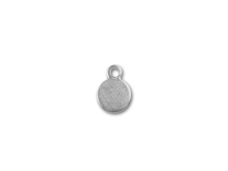 Sterling Silver Small Round Quality Tag Charm