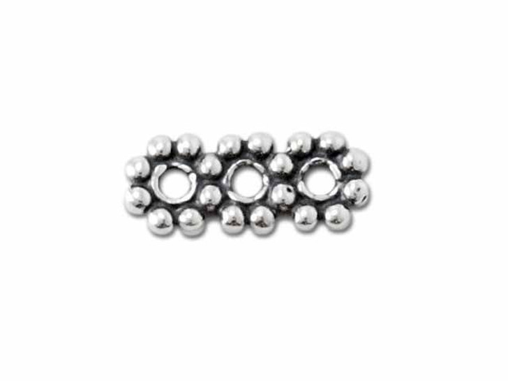 Sterling Silver Triple Daisy Spacer