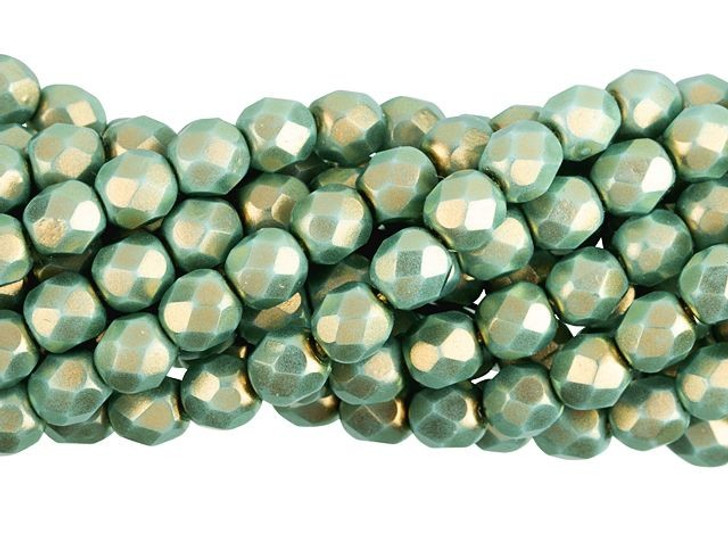 Czech Glass 6mm Halo Ethereal Heavens Fire-Polished Bead Strand by Starman