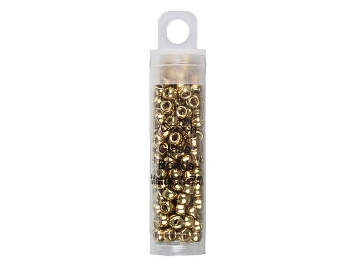 Czech Glass 7/0 Matubo Beads Gold approx. 7.5g Tube