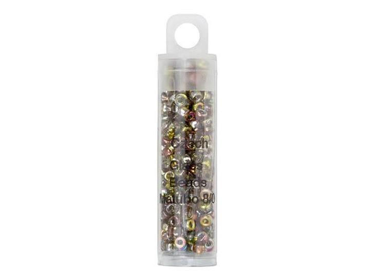 Czech Glass 8/0 Matubo Beads Magic Yellow Brown 8g Tube