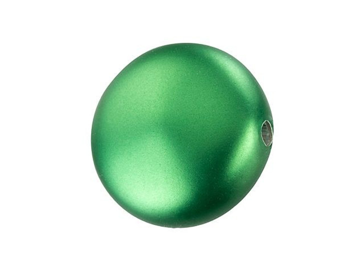 Swarovski 5860 12mm Coin Pearl Crystal Eden Green
