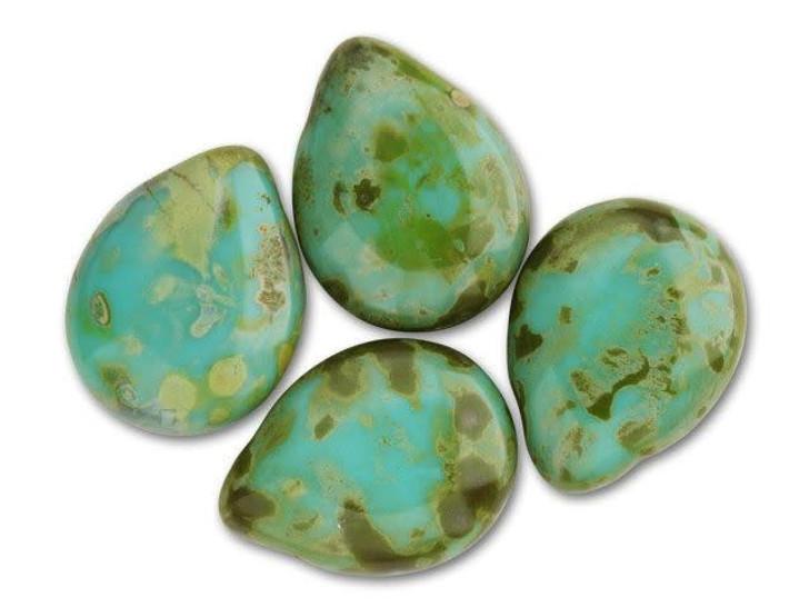 18mm Imitation Czech Yellow Moonstone Cabochon Jewellery Making Embellishment