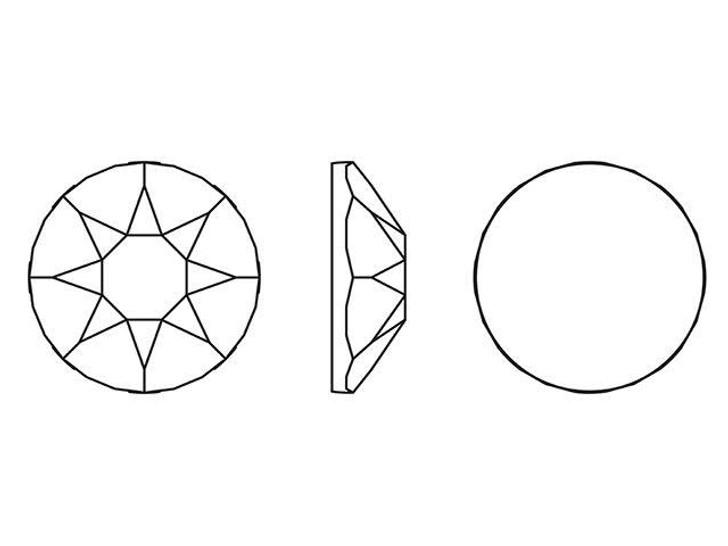 Swarovski H2078 SS16 Hotfix Xirius Rose Flatback Crystal Rainbow Dark