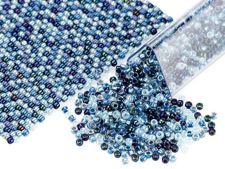 Artbeads Lose the Blues Designer Blend, 15/0 TOHO Round Seed Beads