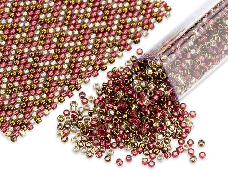 Artbeads Marsala Inspired Designer Blend, 15/0 TOHO Round Seed Beads