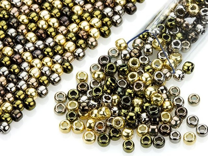 Artbeads Mixed Metal Glam Designer Blend, 8/0 TOHO Round Seed Beads