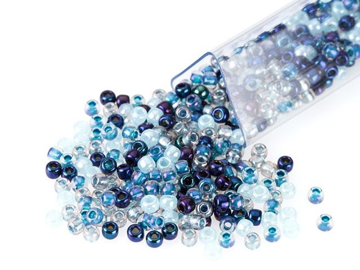 Artbeads Nordic Blues Designer Blend, 11/0 TOHO Round Seed Beads