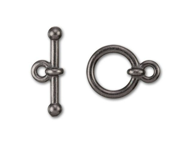 TierraCast 3/8-Inch Black Finish Pewter Anna's Toggle and Clasp