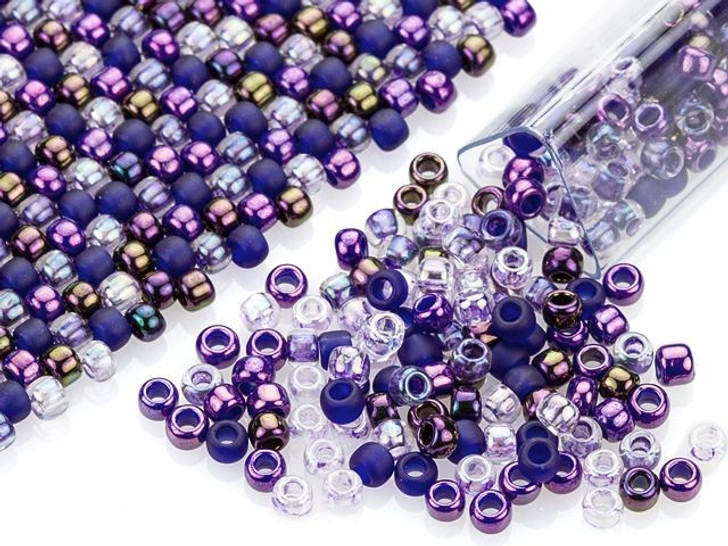 Artbeads Punchy Purples Designer Blend, 8/0 TOHO Round Seed Beads