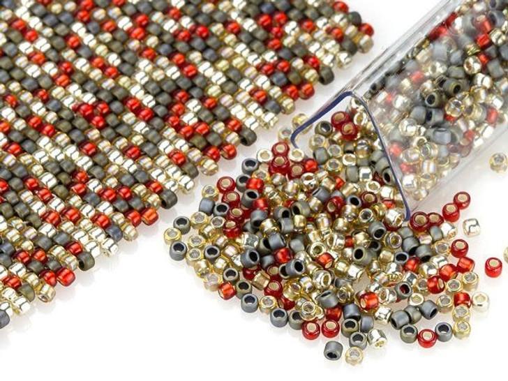 Artbeads Spicy Cinnamon Designer Blend, 15/0 TOHO Round Seed Beads