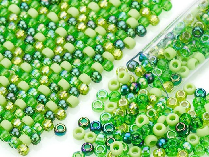 Artbeads Tender Sprout Designer Blend, 8/0 TOHO Round Seed Beads