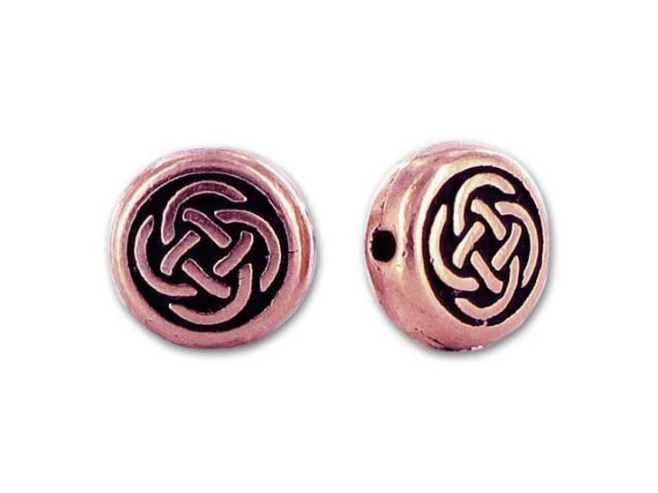 TierraCast Antique Copper Small Celtic Circle Bead