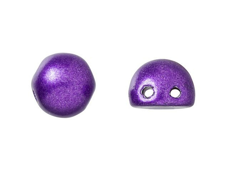 CzechMates 2-Hole 7mm ColorTrends: Saturated Metallic Bodacious Cabochon Beads 2.5-Inch Tube