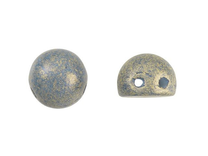 CzechMates 2-Hole 7mm Pacifica Poppy Seed Cabochon Beads 2.5-Inch Tube