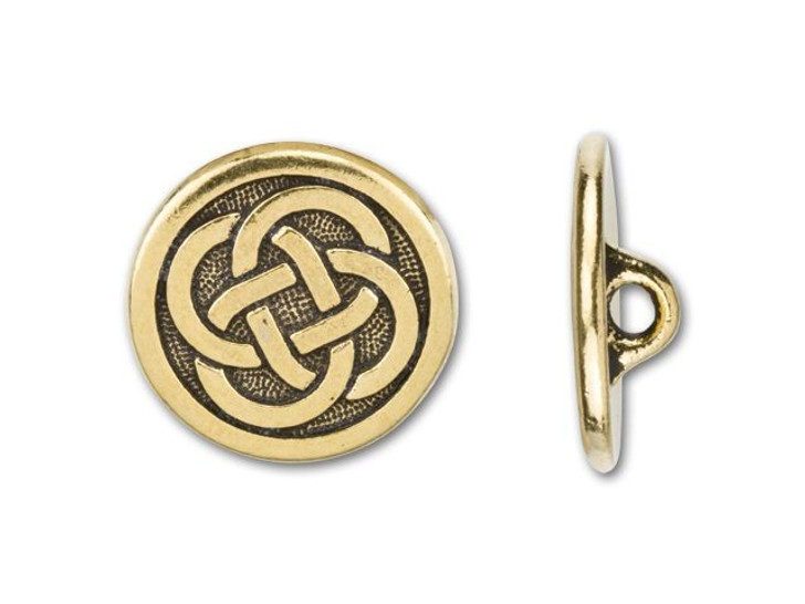 TierraCast Antique Gold-Plated Pewter Celtic Button