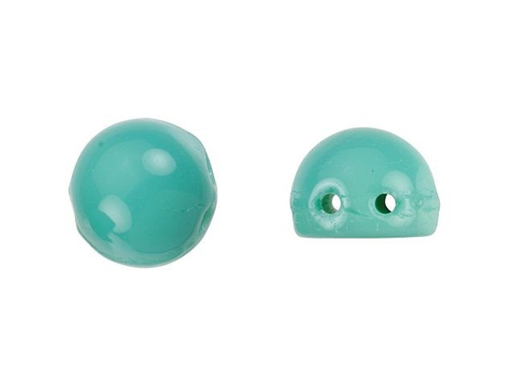 CzechMates 2-Hole 7mm Turquoise Cabochon Beads 2.5-Inch Tube