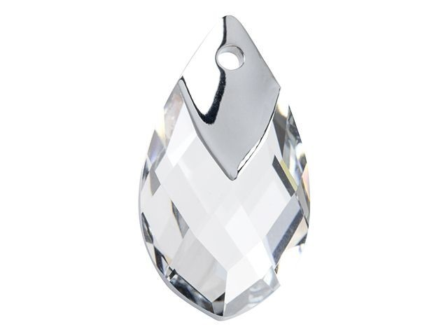 6565 Metallic Cap Pear-Shaped Pendants