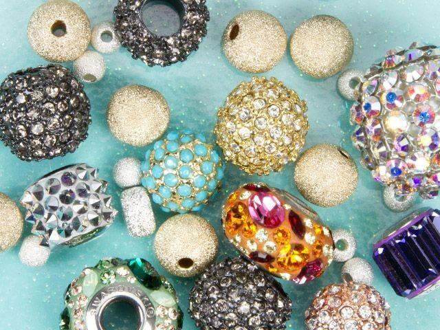 Pave & Rhinestone Beads