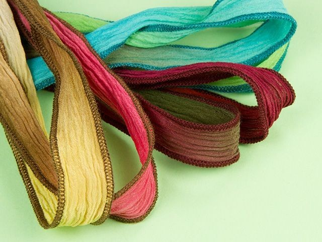 Hand-Dyed Silk Ribbons