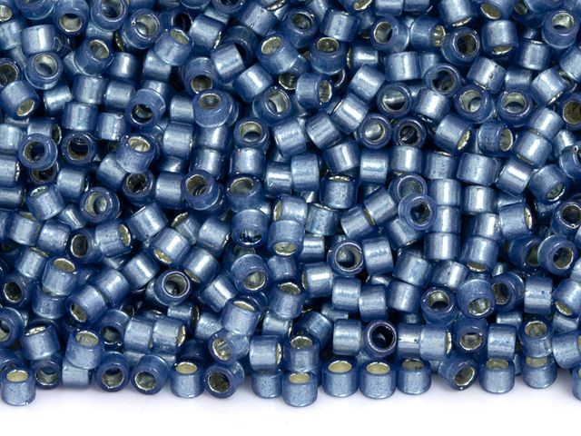 Periwinkle Blue Satin Size 110 TB-11-1527 AIKO Precision Cylinder Japanese Seed Beads