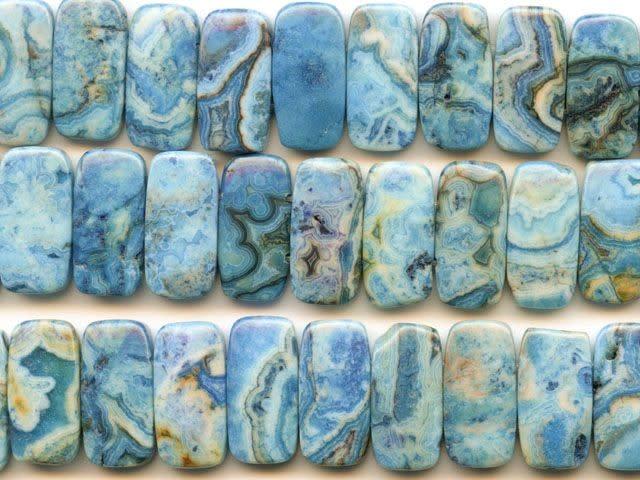 10pcs 27x16x6mm Nice Blue Crazy Lace Agate Teardrop Pendant Beads