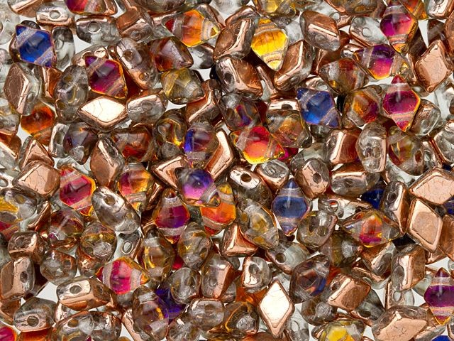 Diamonduo Czech Pressed glass beads Pri Peacock 8x5mm Bargain Pack 85 Stunning